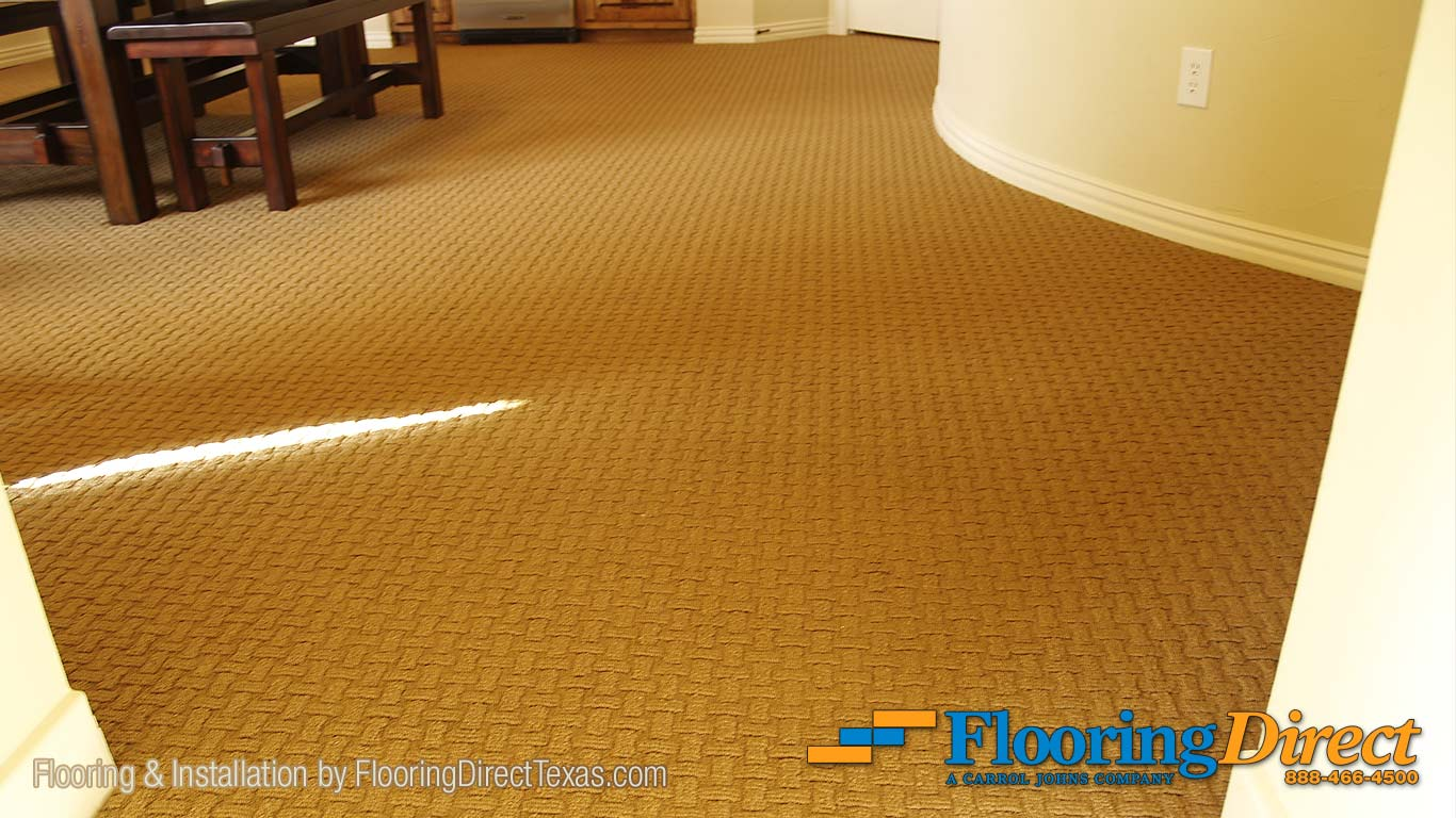 "This Carpet Flooring by Shaw is in a pattern called ""Know it All"" in the color of Acorn."