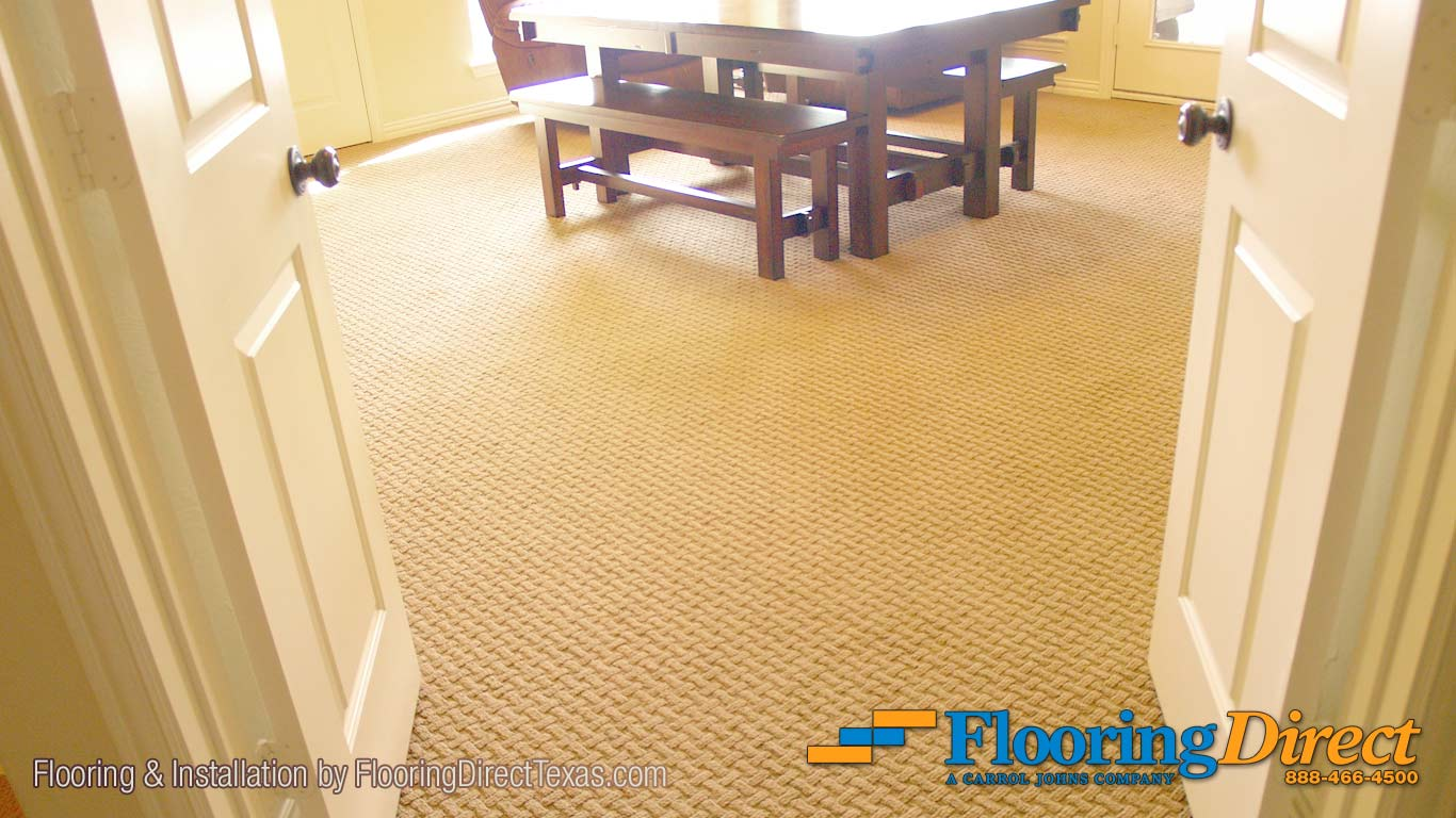 This Shaw Carpet runs continuously through the Family Room and out the Main Hallway.