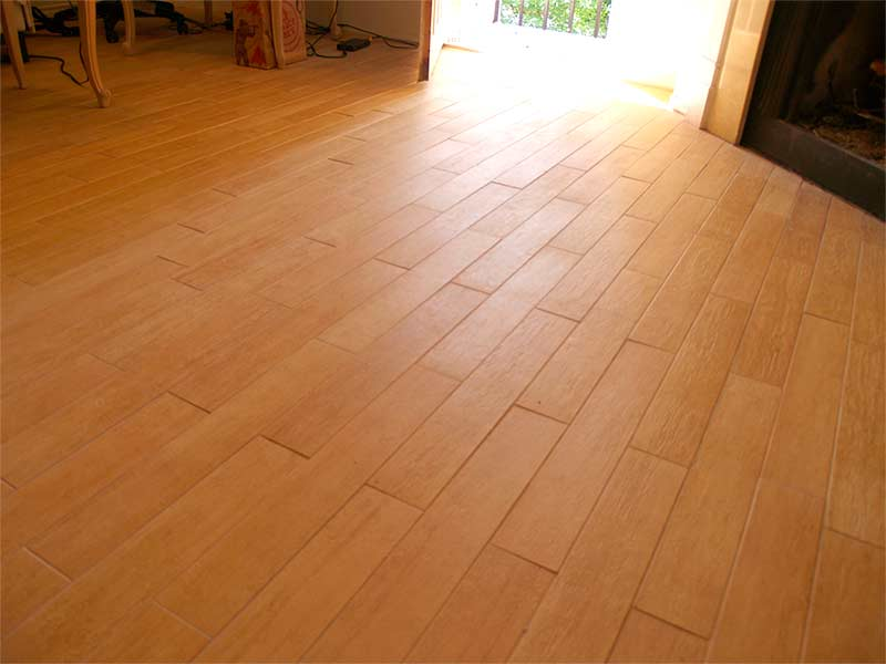 Wood Look Tile To Engineered Hardwood With Mosaic Tile