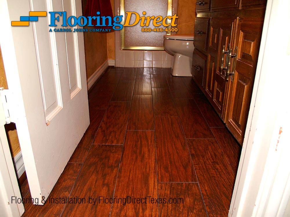 Wood-look Tile Safe for the Bathroom, Installed by Flooring Direct ...