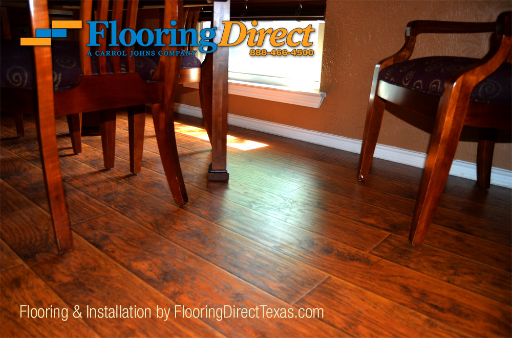 Wood-Look Laminate Can Be Installed To Look The Same As Hardwood Floors