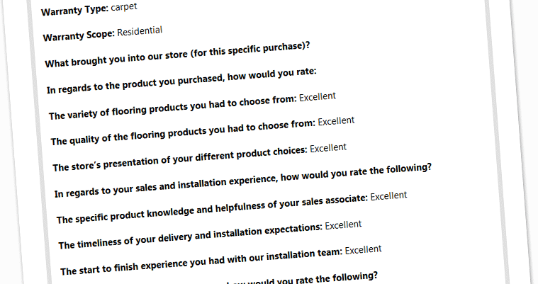 Flooring Direct an Excellent Review