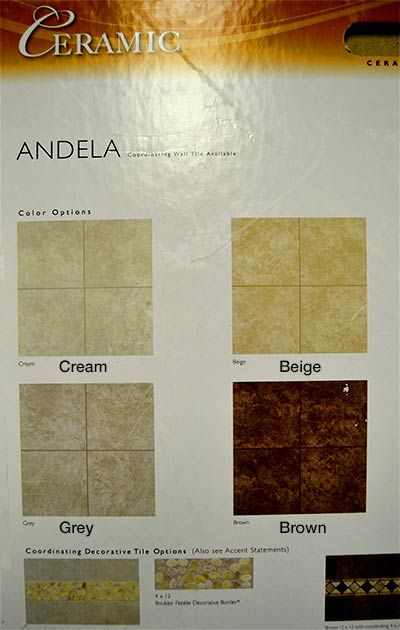 Mohawk Andela Ceramic Tile Sample Board