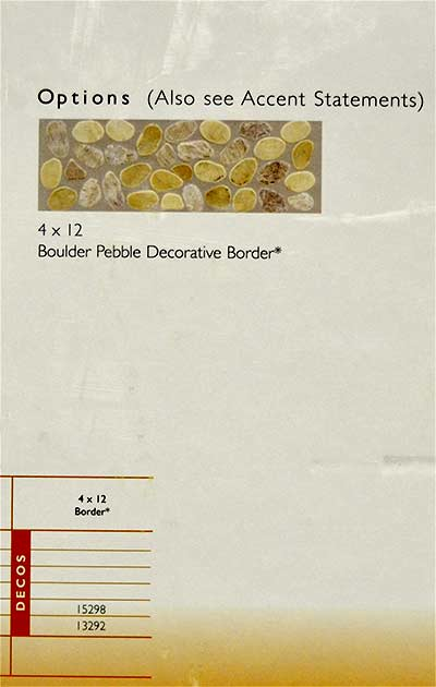 Boulder Pebble Decorative Border