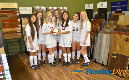 Flooring Direct Supports School Athletics Plano Girls Soccer
