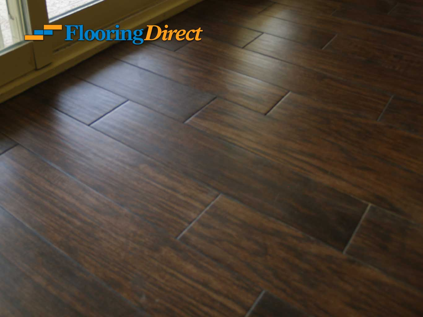 Wood look tile flooring serving all of dfw flooring direct for Tile and hardwood floor