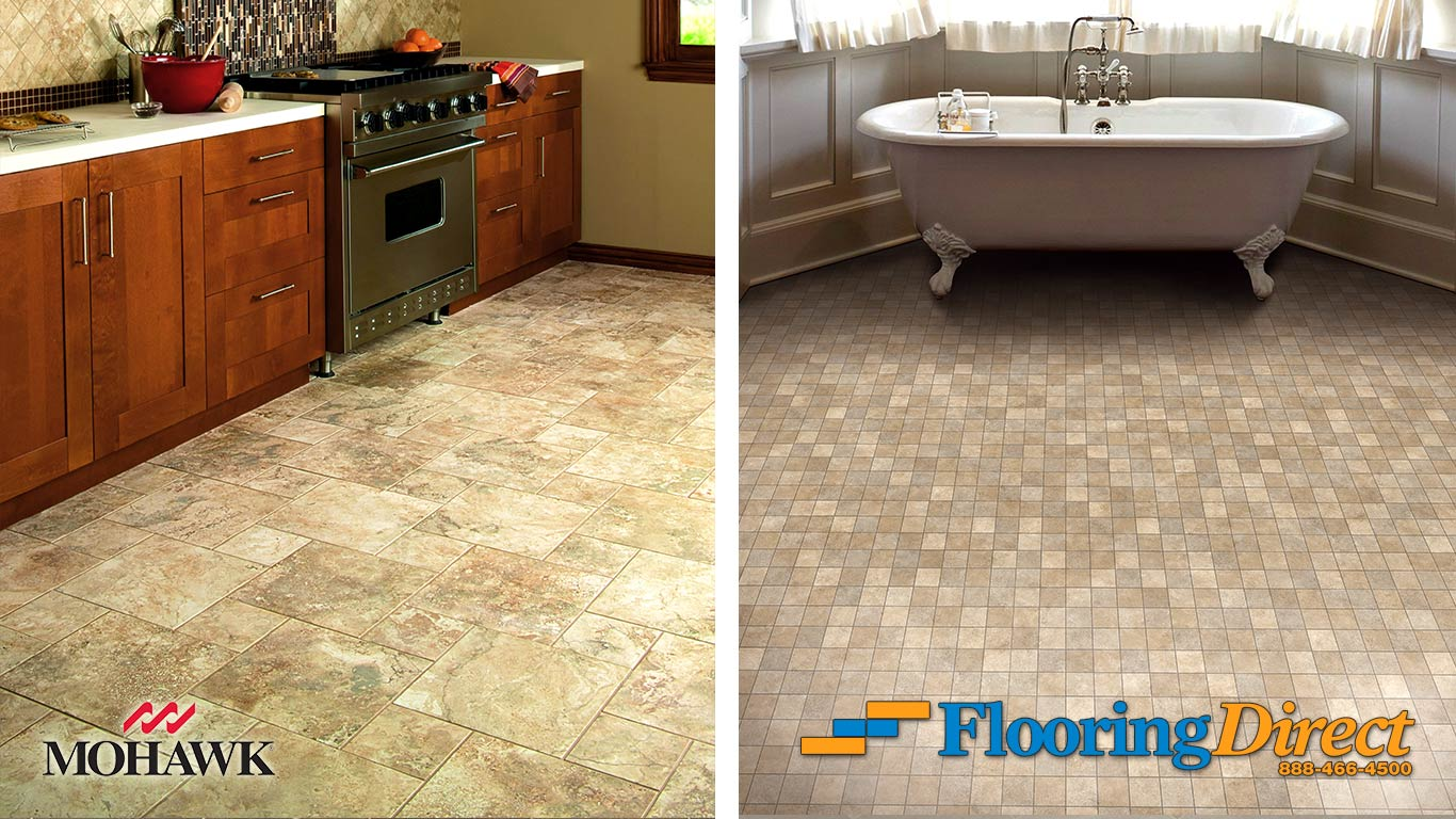 Luxury Vinyl Sheet Flooring vs Tile Flooring At Flooring Direct