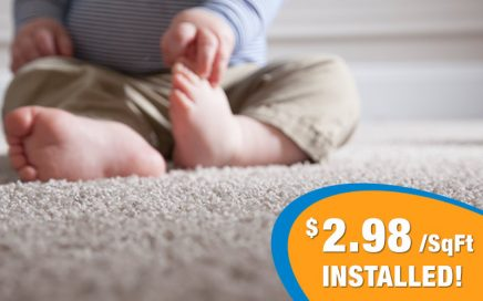 heavy carpet flooring with pad 2.98 per sqaure foot