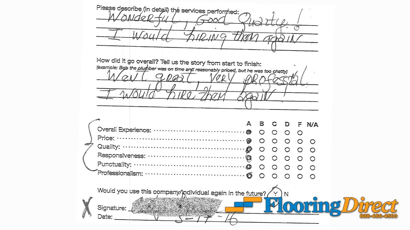Flooring Direct Review Went Great Very Professional I Would Hire Them Again