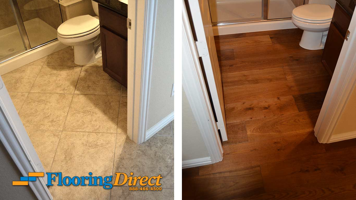 Tile Flooring Hardwood Floors at Flooring Direct Bathroom