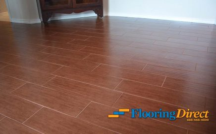 Wood-Look Tile Flooring Installed By Flooring Direct Of Dallas In Richardson Texas Residence