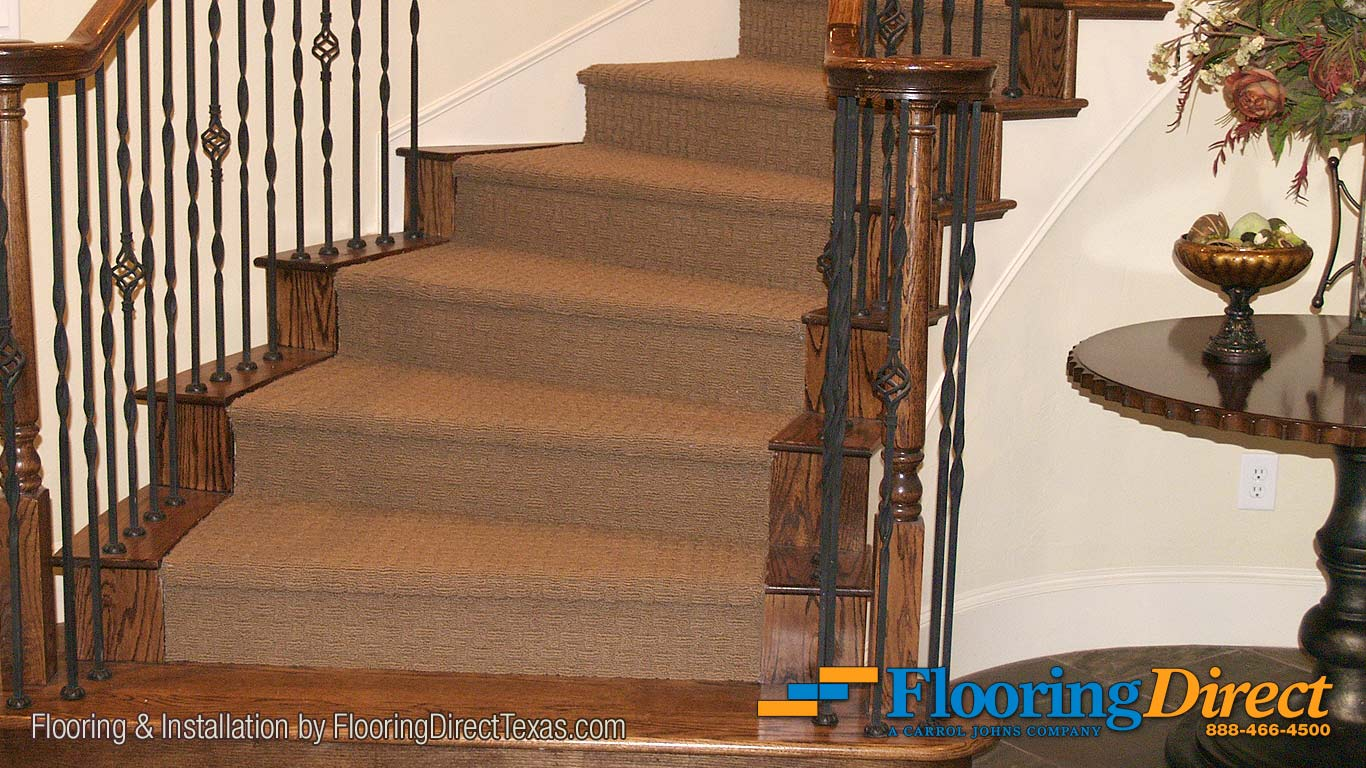 Flooring Direct Installers Cut Under The Existing Spiral Staircase Trim And Framing For This Beautiful Carpet