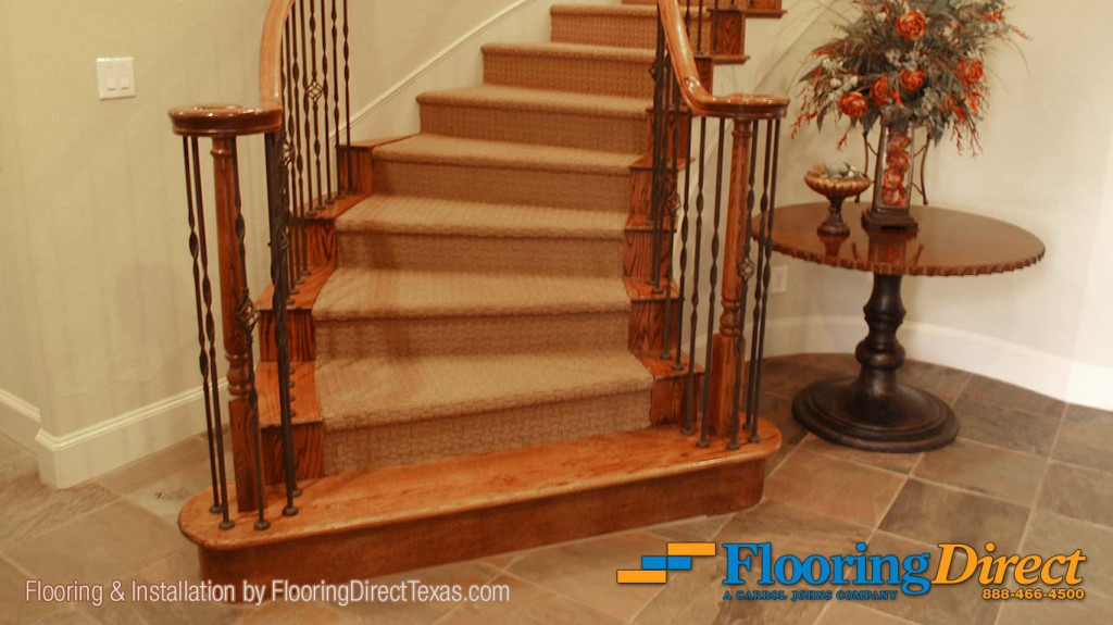 This Residential Carpet Installation By Flooring Direct Begins Here At Beautiful Spiral Staircase The