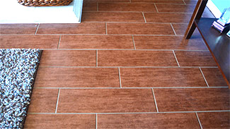 Wood-look tile by Flooring Direct in Dallas serving all DFW