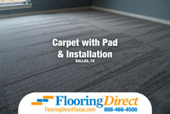Flooring Direct Carpet With Pad And Installation Dallas Fort Worth Texas 888-466-4500 Featured