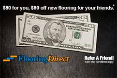 $50 for You $50-off New Flooring for Your Friends