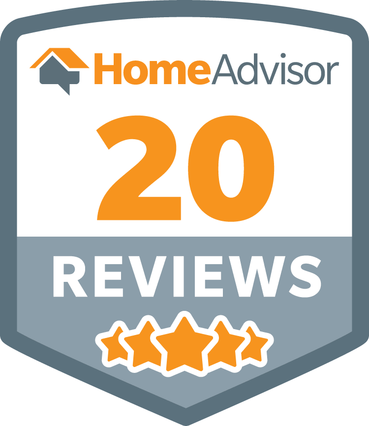 HomeAdvisor 20 Reviews Service Badge